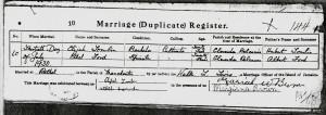 Jamaican marriage certificate